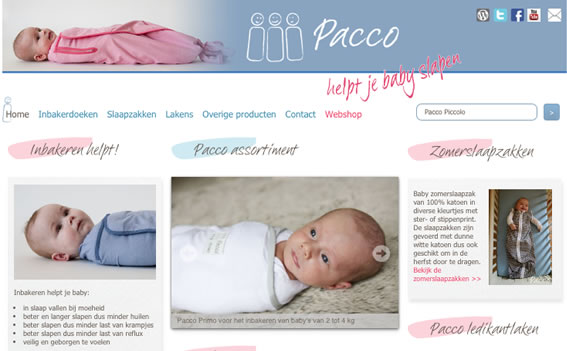 responsive website Pacco.nl
